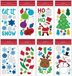 B-THERE-Bundle-of-Merry-Christmas-Holiday-5-5-034-x-12-034-Window-Gel-Clings