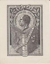 EX-LIBRIS J. HENRICOT DESSINÉ EN 1928 PAR HENRY-ANDRÉ (1857-1932) - BELGIQUE.