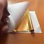 100X Gold//Silver//Rose Gold Foil Leaf Paper Food Cake Decor Edible Gilding Craft