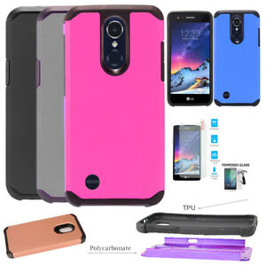 Details about For LG Aristo 3 Case / LG Tribute Empire Case ShockProof  Hybrid Cover
