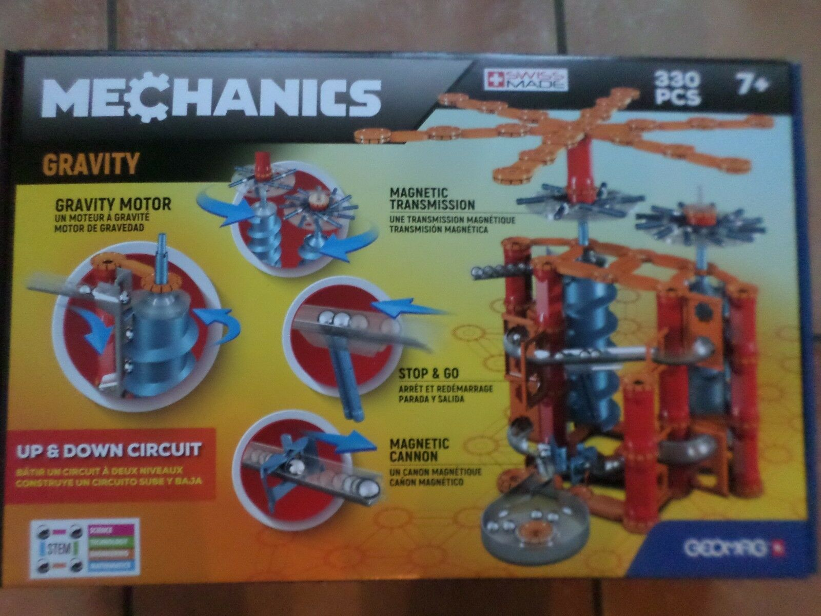 GEOMAG MECHANICS 330 PIECE SET MAGNETIC CONSTRUCTION  NEW FREE UK POST
