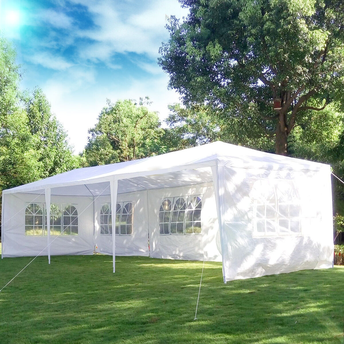 10x30 White Outdoor Gazebo Canopy Wedding Party Tent 8 ...