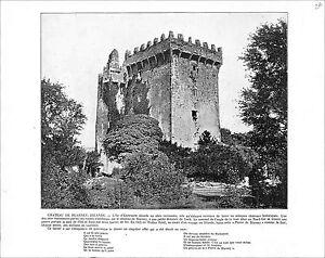 Blarney-Castle-Cork-Ireland-Loch-Katrine-Scotland-Ellen-039-s-Isle-UK-1897-PRINT
