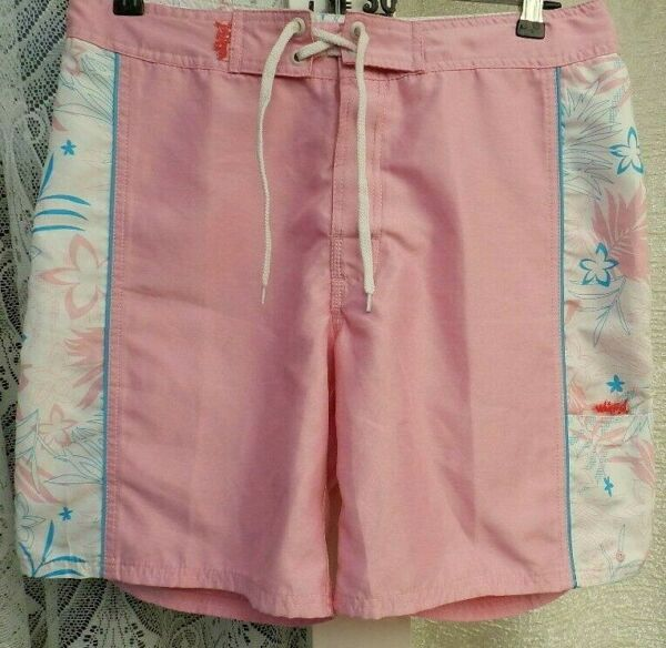 "( Ref 1637 ) Urban Beach - Size 10/12 W 32"" - Ladies Pink Summer Shorts"