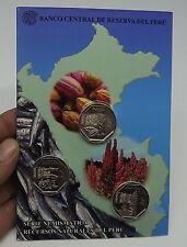 1 SOL 2013  3 COINS BLISTER RECURSOS NATURALES DEL PERU QUINUA ANCHOVETA CACAO