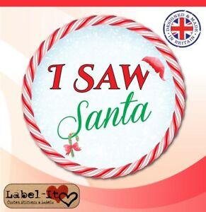 ch06 48x 40x40mm i saw met santa school grotto christmas stickers
