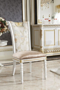 8-Chairs-Set-Dining-Room-Designer-Wood-Chair-Set-Antique-Style-Baroque-Rococo