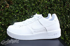 NIKE AIR FORCE 1 ULTRAFORCE LEATHER SZ 8 LOW TRIPLE WHITE 845052 100