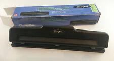 Swingline Light Duty Metal 2 3 Hole Punch Black 74015 Withbox 10 Sheets