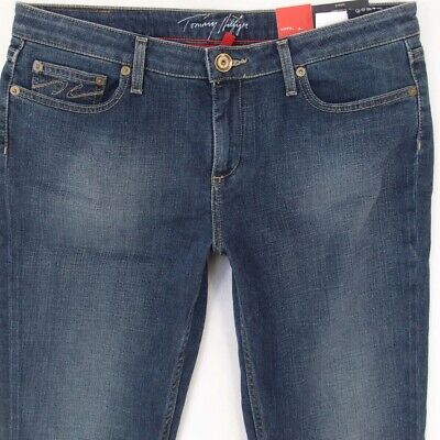 a1e3ade5 NEW Womens Tommy Hilfiger ROME Stretch Straight Blue Jeans W31 L34 BNWT  Size 12