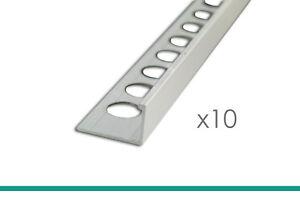 10 X 2,5m Profilé Pour Carrelage 8mm Aluminium Argent Pâle Profilé équerre Bien Vendre Partout Dans Le Monde