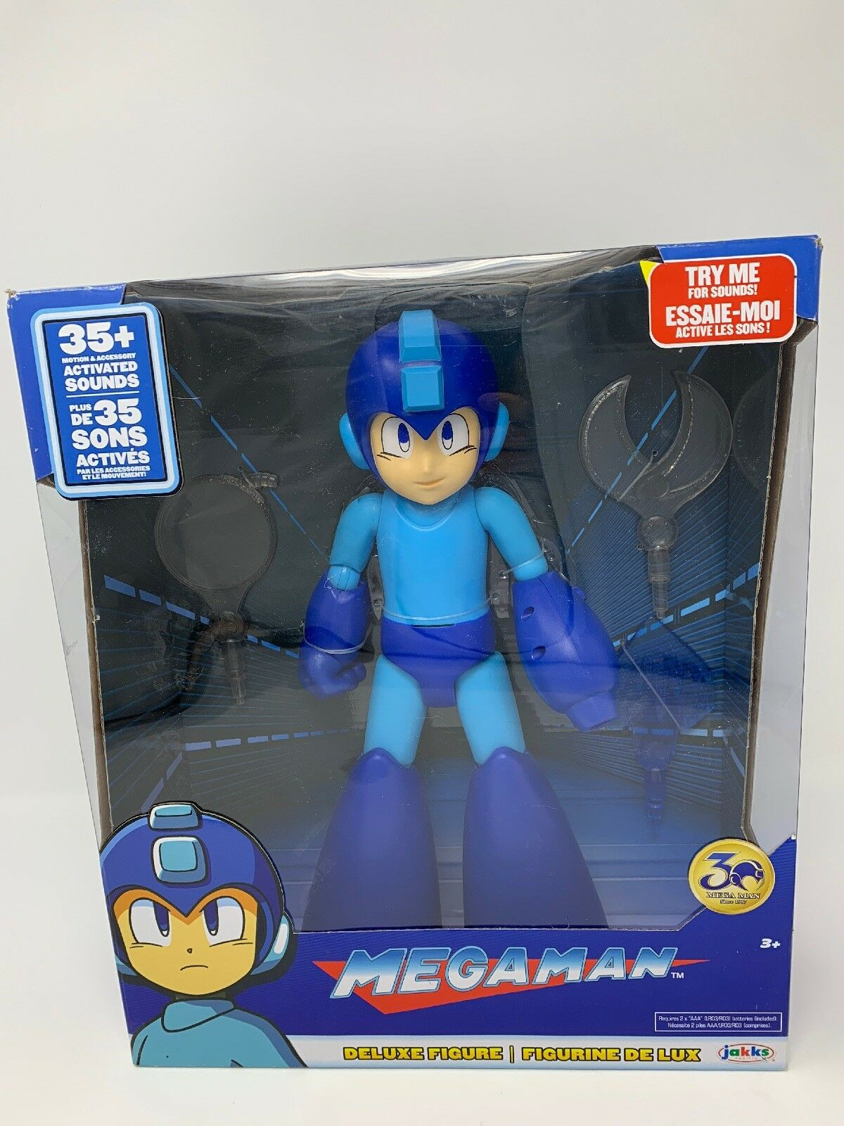 Megaman Statue Deluxe Figure 30th ans 35+ activé sons et plus
