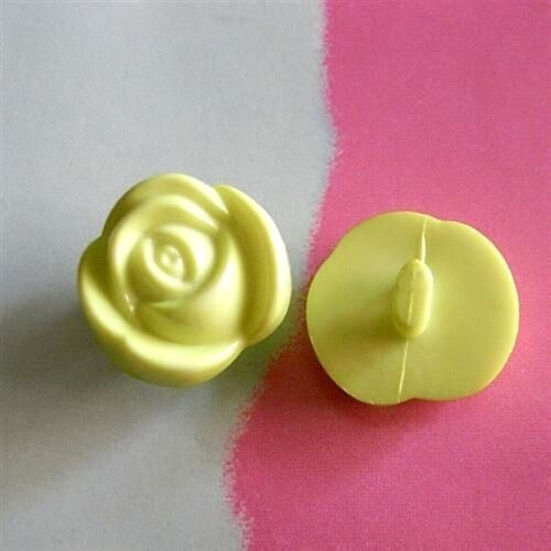 25 Flower Rose Craft Infant Kid Baby Dress Sewing Buttons S 11.5mm Green K404