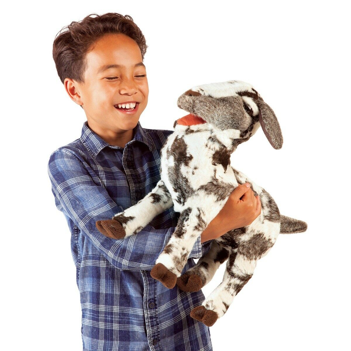 Screaming Goat Hand Puppet by Folkmanis Puppets MPN 3112, Boys & Girls, 3 & Up