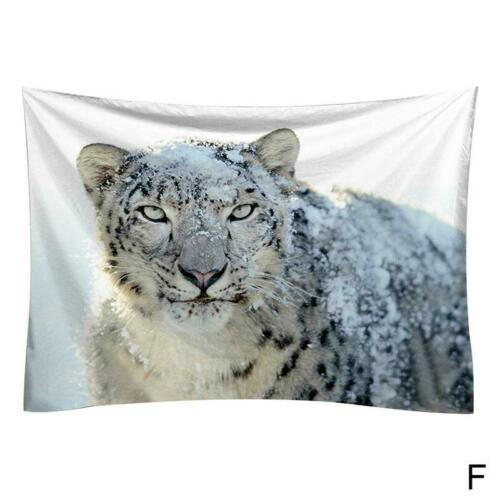 Creative Fashion Wolf Animal Wall Tapestry Bedroom Decor Comfortable Polyester