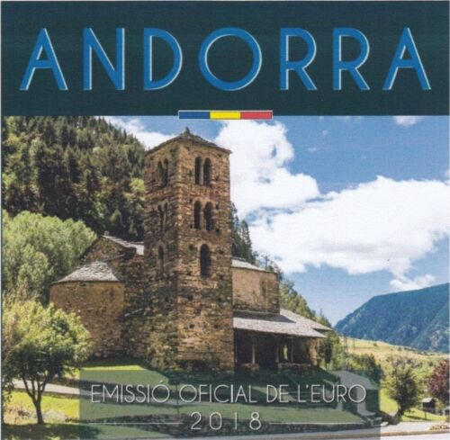 ANDORRA BU Euro coin set 2018-8 coins 1 cent 2 euro IN STOCK