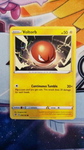 Pokemon TCG Playset 4x Voltorb Sword and Shield: Rebel Clash 056//192