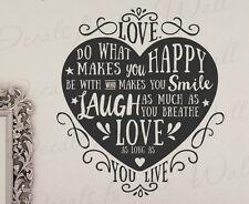 Love Do What Makes You Happy Rachel Nunes Mormon LDS Wall Art Vinyl Decal Q93