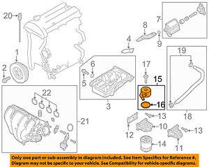 details about mazda oem 07 12 cx 7 engine oil cooler lf6w14700a  cx 7 engine diagram #9