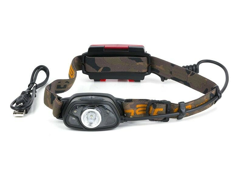 FOX Halo MS300C Headtorch, Lampada davantiale riautoicabile via cavo USB