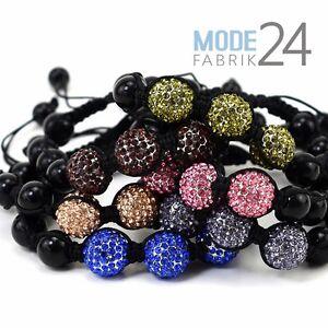 Shamballa Armband Damen Strass Glitzer Elements Kugel Beads Glück ... f72c8c9c1ea78