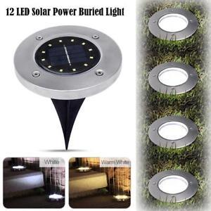 Lumiere-Solaire-a-12-LED-en-Exterieur-Jardin-Paysage-de-Pelouse-Avec-Lampe