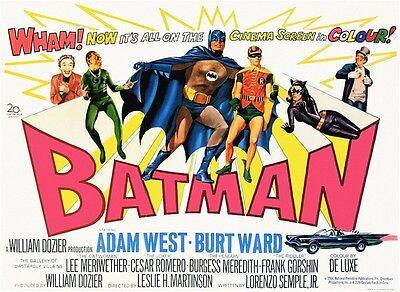 BATMAN - Adam West - Rare & Collectable - Canvas Movie Poster.