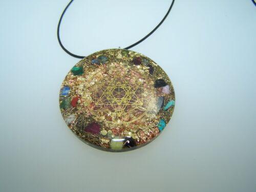 Amulett Metatron in Gold Opanium Orgon Medallion