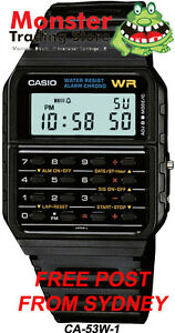 AUSSIE-SELER-CASIO-WATCH-CALCULATOR-VINTAGE-RETRO-80s-CA-53W-1Z-CA53-CA-53