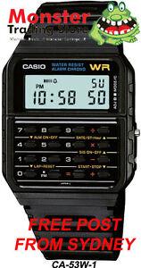 AUSSIE-SELLER-CASIO-WATCH-CALCULATOR-VINTAGE-RETRO-80-039-s-CA-53W-1Z-CA53-CA-53