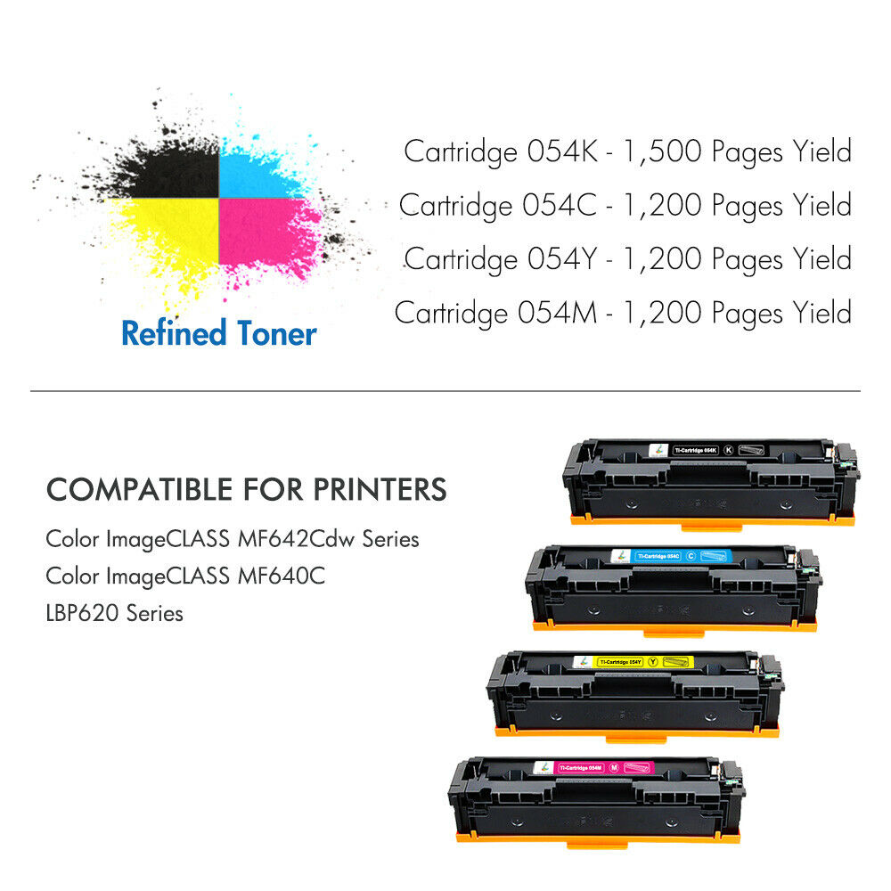 BK//C//M//Y TopInk MF640C Replacement for Canon Color imageCLASS MF640C Printer Toner Cartridge High Yield-5 Pack