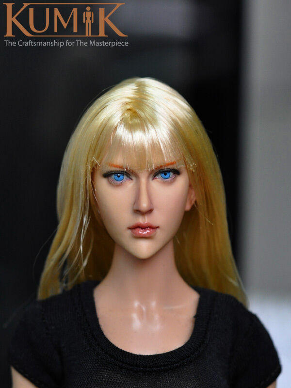 KUMIK 1 6 Head Sculpt No.KM13-90 pour Hot Toys KUMIK Female Body