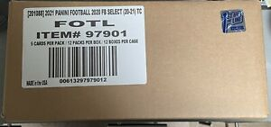 2020-21 PANINI SELECT FOOTBALL First Of The Line FOTL SEALED 12 BOX CASE IN HAND