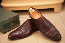 Edward Green Malvern Men's Burgundy Leather Brogue Shoess UK 8.5 XNarrow