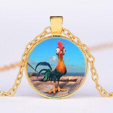 Moana Cute Heihei Pendant Necklace Pendants Kid Jewelry party gifts