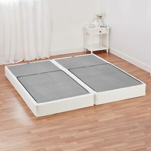 Half Fold Metal Box Spring King Size Mattress Bed Foundation