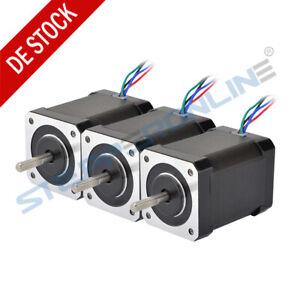 3PCS-Nema-17-Schrittmotor-High-Torque-65Ncm-Stepper-Motor-2-1A-60mm-4-Draehte