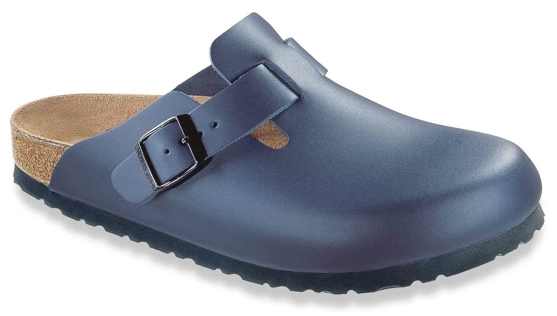 Descuento por tiempo limitado Birkenstock Boston Hausschuhe Pantolette Normal/breit Leder 060151 Blau Neu