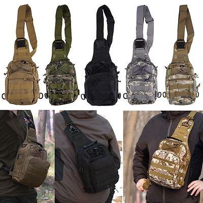 Outdoor Military Shoulder Tactical Backpack Camping Travel Hiking Trekking Bag D