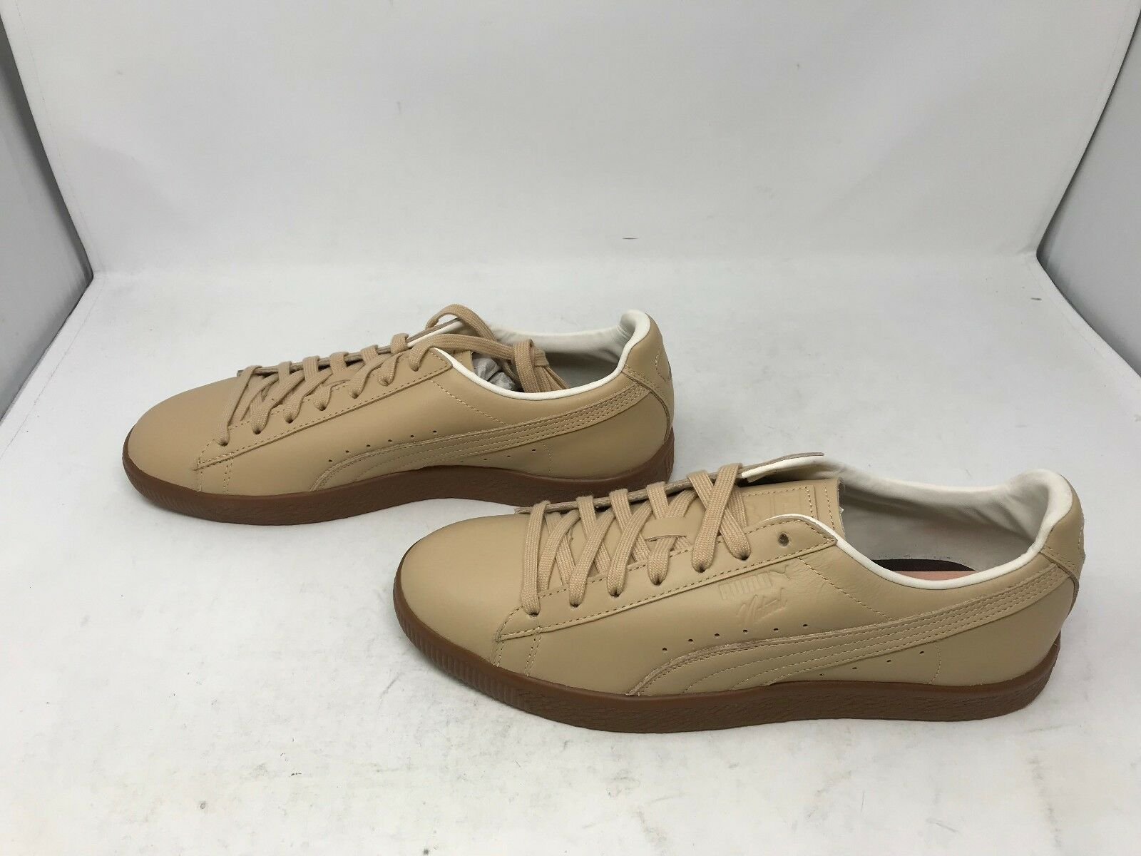 Mens Puma (364451 Leather 01) Clyde Vegetable Tan Leather (364451 Sneakers (H1) 2a10fc