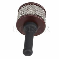 Mini Latin Afuche Cabasa Shaker Percussion Instrument Black Middle Size