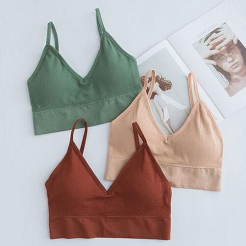 Women Running Fitness Stretch Seamless Sports Bra Bralette Gym Yoga Crop Tops *