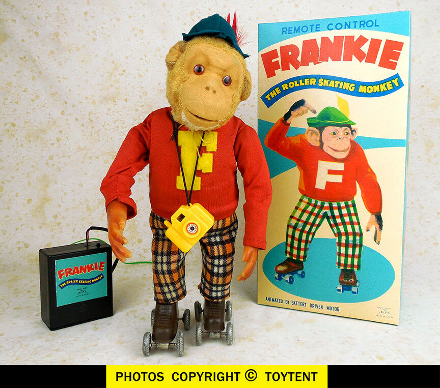 Frankie the Roller Skating Monkey battery toy Alps Japan ... SEE MOVIE