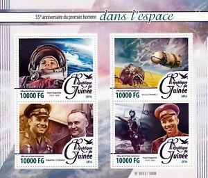 Ordonné Yuri Gagarin Cosmonaute/astronaute Premier Homme Dans L'espace Stamp Sheet #1 (2016-guinée)-onaut First Man In Space Stamp Sheet #1 (2016 Guinea)fr-fr Afficher Le Titre D'origine Achat SpéCial
