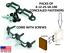 MOD-EEZ CONCEALED PANEL JOINT SEMI-LOCK FASTENERS DOUBLE W// SHOULDER SCREWS HF