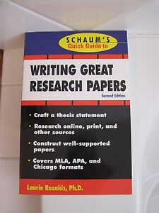 Writing great research papers by laurie rozakis