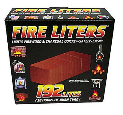 Fire Liters Fire Log Liter 192/Pack Fire Starter Pellet stove, Fireplace