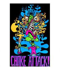 CHOKE ATTACK - WEED BLACKLIGHT POSTER - 24X36 MARIJUANA POT BONG 2283