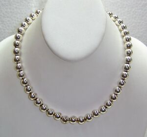 HOLLOW-BEAD-NECKLACE-SET-IN-STERLING-SILVER-17-5-034-LENGTH-N545-W