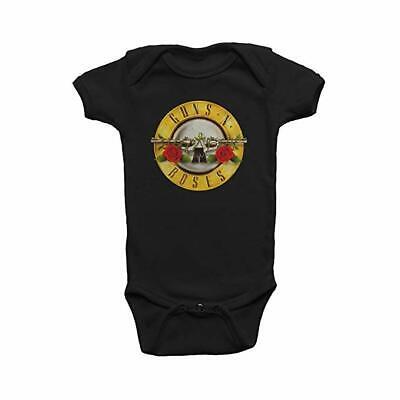 GUNS N ROSES Sweet Child Of Mine Bullet Seal Logo Kids Infant Romper Creeper